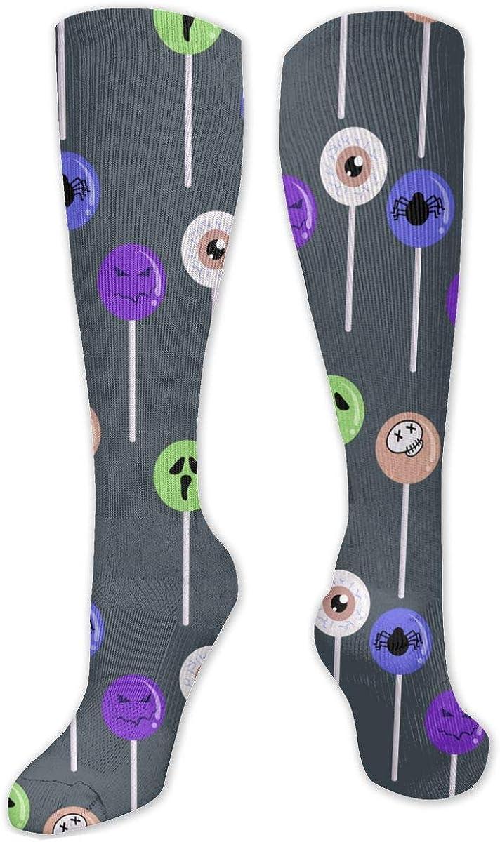 Funny Lollipop Knee High Socks Leg Warmer Dresses Long Boot Stockings For Womens Cosplay Daily Wear