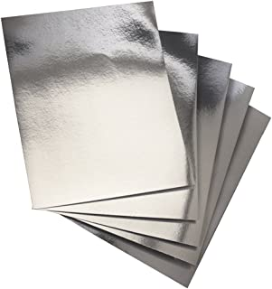 Hygloss 25 Silver, 8.5 x 11-Inch Metallic Foil Board Sheets,