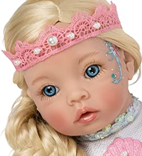 Paradise Galleries Reborn Mermaid Doll - Pearl Little Mermaid, 21 inches Head to Tail, Posable Tail
