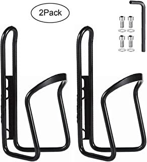 Greallthy Bike Bottle Cages, MTB Bike Bicycle Alloy Aluminum Water Bottle Holder Cages Brackets Lightweight for Cycling Fits Any Bike with Easy Installation [2X Pack]