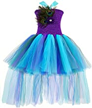 peacock tulle dress