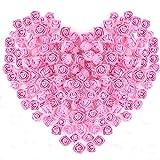 Mini Roses en Mousse,144 Pack Petites Fleur Artificiel Bouquet de Fleurs Roses pour La Décoration Mariage Fête Jardin Maison DécorArtisanat Scrapbooking DIY 2.5CM Rose