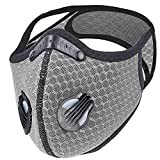 CONTINUE Washable Dust Mouth Cover with Air Filter,Sport Cycling Running Training Cover, Reusable...