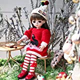 UCanaan BJD Doll 1/6 SD Dolls 12 Inch 18 Ball Jointed Doll DIY Toys with Full Set Clothes Shoes Wig Makeup for Girls-Rita