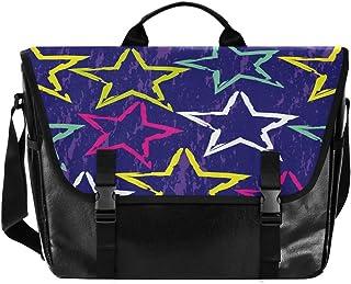 Blue Stars - Bolso de lona para hombre y mujer, diseño retro