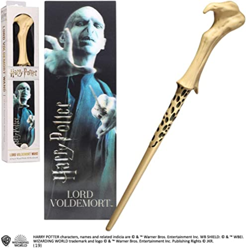 Noble Collection The Lord VoldemortPVC Wand and Prismatic Bookmark
