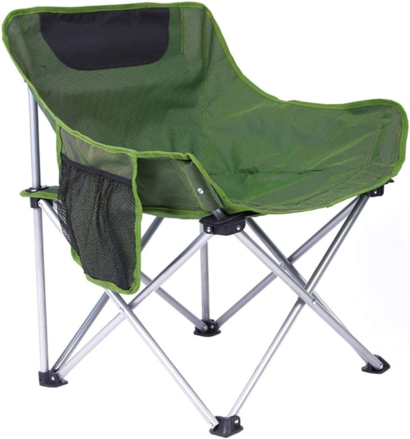 JGWJJ Sofa Camping Chair Oversized Padded Folding Heavy Duty Deluxe Portable Stable for Camping, Hiking, Carry Bag Included, Supports 300 lbs (color   Green)
