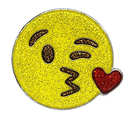 Navika Emoji Mwah Glitzy Ball Marker with Magnetic Hat Clip