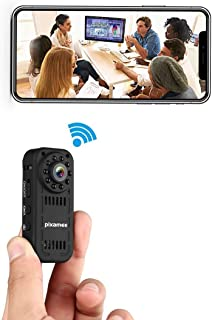 pixamee Hidden Camera, 18P HD Camera Mini Spy Camera Wireless WiFi Infrared Night Vision Portable Recorder iPhone/Android/ipad Remote View Motion Detection, Black