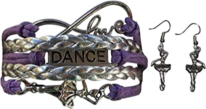 Girls Dance Jewelry Set-Dance Bracelet & Dance Earrings, for Dance Recitals, Dancers and Dance Teams