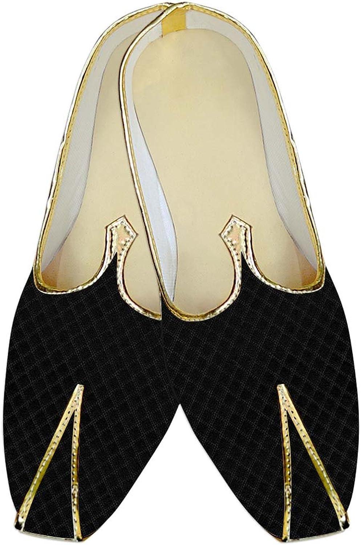 INMONARCH Mens Black Wedding shoes Square Design MJ015162