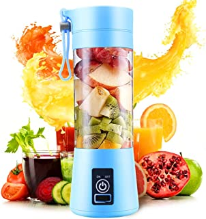 Portable Blender Personal Juicer Cup Electric Fruit Mixer Rechargeable Juice Bottle for Office Outdoors Travelling -380mL