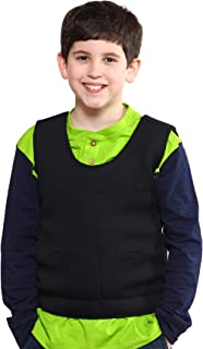 Weighted Compression Vest - Black - Helps with Mood & Attention, Sensory Over Responding, Sensory Seeking, Travel Issues