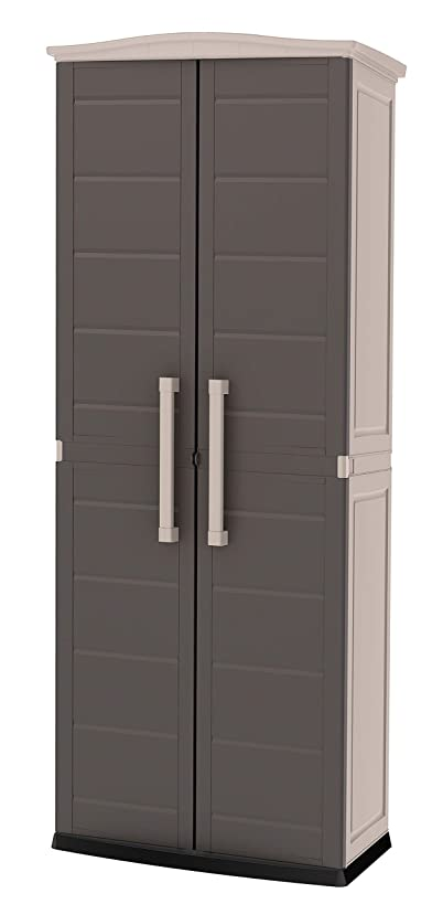 Keter 228852 Boston Outdoor Storage Cabinet Beige/Brown