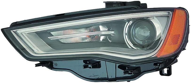 for 2015 2016 Audi A3 left driver fog lamp fog light cover Black 15 16 LH