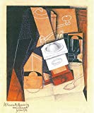 The Museum Outlet - Coffee grinder, cup and glass on a table by Juan Gris - Canvas Print Online Buy (30 X 40 Inch)