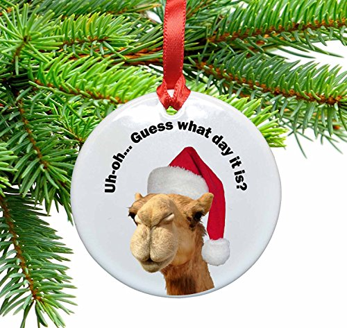 Uh oh.Guess What Day it Is Funny Christmas Ornament