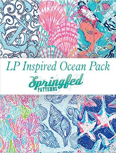 LP Inspired Ocean Beach Prints Craft Vinyl Pattern Pack #1 Six Patterns 12x12!