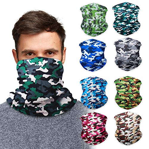 Sojourner 9PCS Seamless Bandanas Face Mask Headband Scarf Headwrap Neckwarmer & More