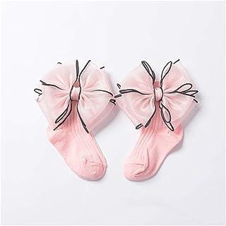 LiuQ, Calcetines Hasta Rodilla Niñas Calcetines para niños con arcos Baby Girls Calcetín de calcetín de algodón Alto algodón Calcetines largos para niños Color caramelo Un par de calcetines infantiles Niña