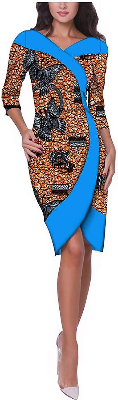African Dresses for Women Party Wear Wax Print Ankara Fashion Dashiki Clothing Beige