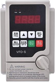 Variador de frecuencia, 1.5KW-7.5KW Inversor VFD Convertidor de frecuencia variable Convertidor trifásico de entrada y salida de 380V, Inversor VFD Convertidor de frecuencia Convertidor (0.75KW)