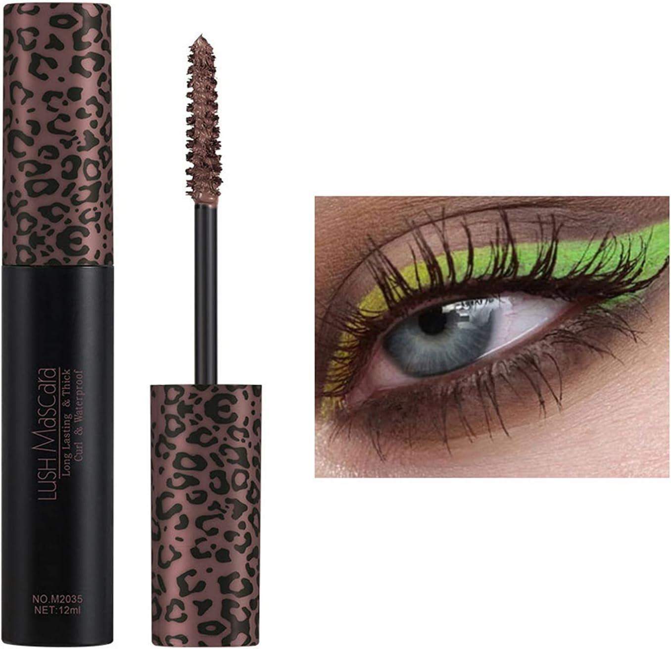 latest 5 Colors 4D Silk Fiber Lash Colorful Wa High material Mascara Colored
