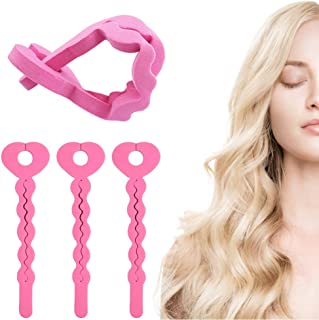 Rizadores para el Cabello de Espuma 18 Piezas Flexible Rodillos de Esponja Pelo para cabello DIY, Mujeres y Niñas