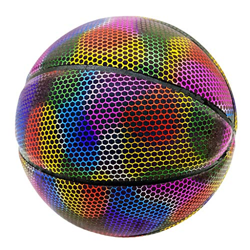 Buy Bargain GraPefruiT Battery-Free Glowing Baketball, Size 7 Reflective Luminous Basketball, Light ...