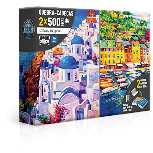 Combo. 2X Quebra Cabeça 500 Peças - Litorais Europeus - Grécia e Itália, Toyster