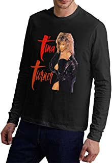 Mens Tina Turner - World Tour Stylish Long Sleeve Tshirt Jersey T Shirt Black