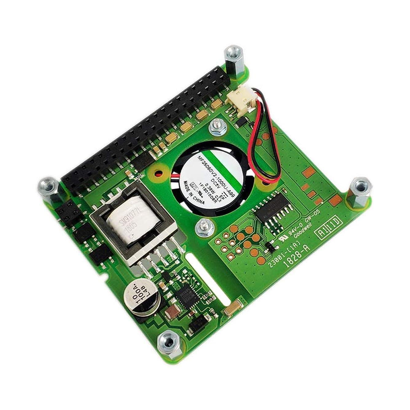 ユーザー移住する事前コントロールファン付きPoE HATアドオンボードラズベリーパイ4モデルB / 3B + Plus / 3B用PoEハット拡張ボード YHWJP