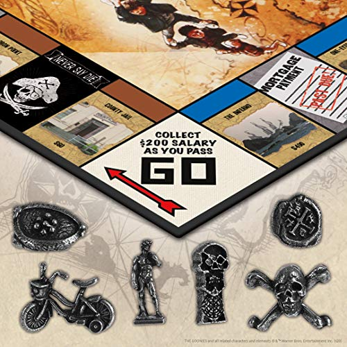 Monopoly The Goonies | Based on The 80s Adventure Classic Film | Collectible Monopoly Game Featuring Familiar Locations and Iconic Moments