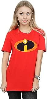 Disney Women's The Incredibles 2 Costume Logo Boyfriend Fit T-Shirt