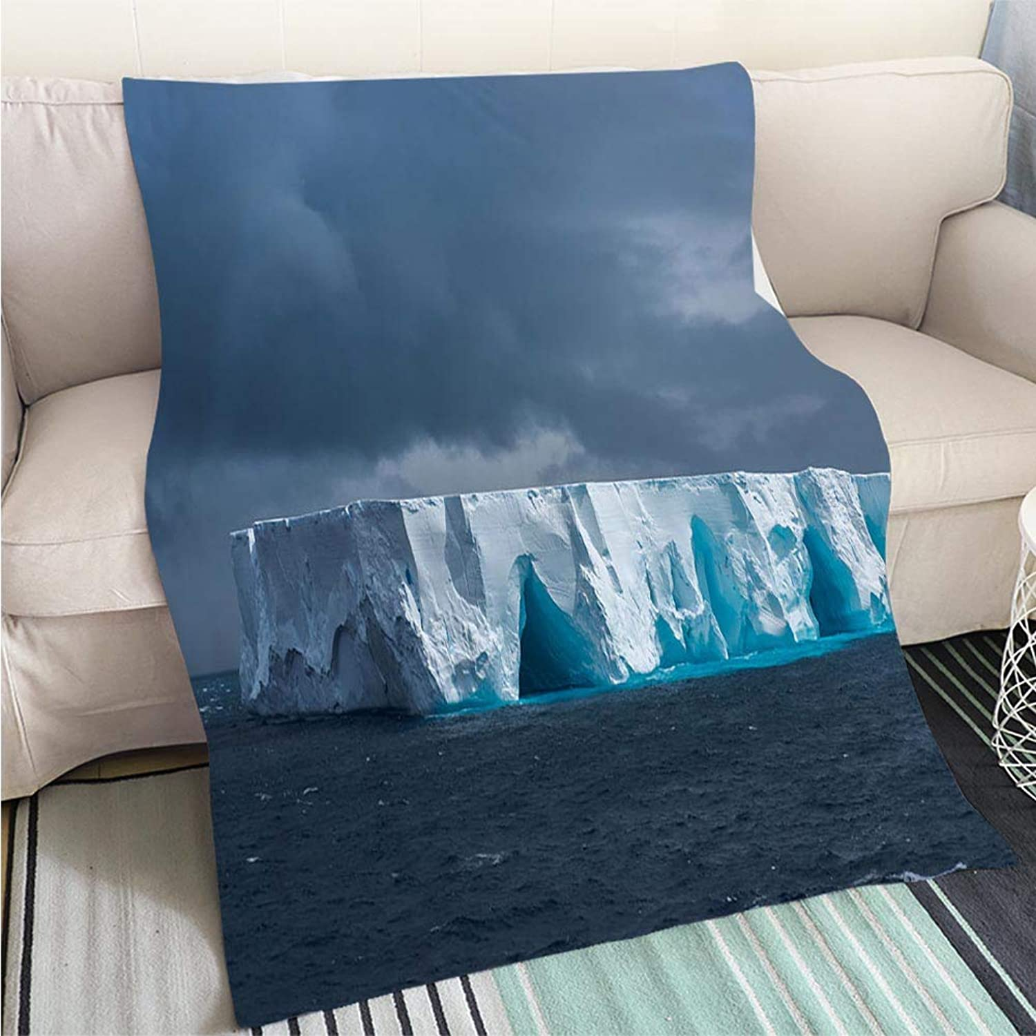 Luxury Super Soft Blanket Large tabular Iceberg Floating in Antarctica Perfect for Couch Sofa or Bed Cool Quilt