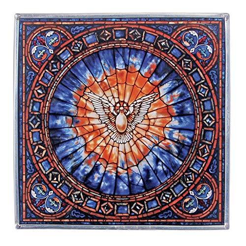 Buntglas-Panel - Der Heilige Geist Platz Buntglas-Fenster Behang - Kunst-Glas-Fensterbehandlungen