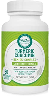 Nature's Instincts Joint Care Turmeric Curcumin BCM-95 Complex | Joint Care Formula | Joint Comfort & Mobility | Boswellia...