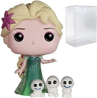 Funko Pop! Disney: Frozen Fever - Elsa #155 Vinyl Figure (Bundled with Pop BOX PROTECTOR CASE)