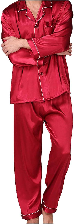 Men Pajamas Set Tops Set Soft Comfortable