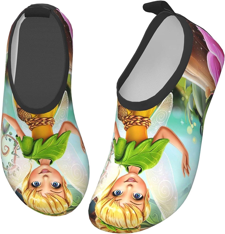 ZSCFBJM Tinkerbell Toddler Kids Swim Water Shoes Lightweight Barefoot Non-Slip Aqua Socks Beach Swimming Surf Walking for Boys Girls