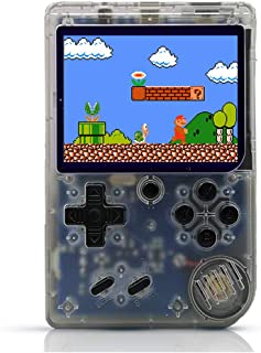 O RLY Retro FC Plus Console Handheld 168 Classic Games Edition 3inch Screen Gameboy (Transparent)
