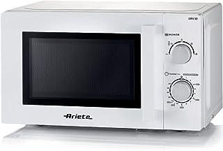 Ariete 951, horno de microondas, 20 litros, calefacción, cocina y descongelante, 5 niveles de potencia, plato giratorio 25,5 cm, temporizador 35 minutos, blanco