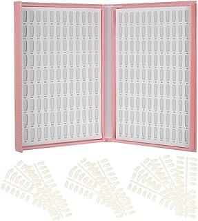 Decdeal ネイルカラーチャート ネイルカラーカードチャート マニキュア プロ ネイルジェルポーランドの表示のヒント ネイルアートサロンセット 216/120色