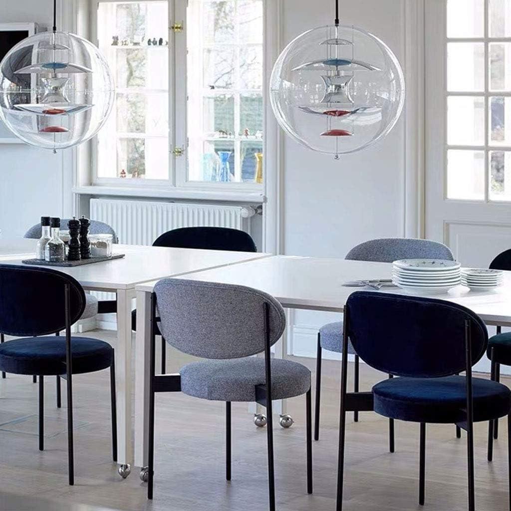 Amrai Chaise de Salle à Manger en métal Designer Salon créatif Chaises Tabouret Club Guest Bistro Cuisine Chaises latérales de café avec Dossier, Hauteur 81 cm (8 Couleurs) Blue