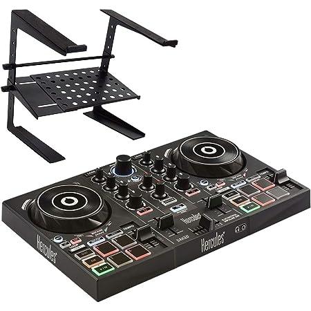 Hercules DJControl Inpulse200 - Controlador para DJ con soporte para portátil keepdrum HA-LS20