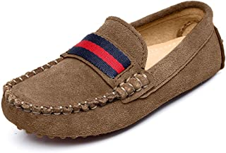 Boys Girls Cute Strap Slip-On Comfortable Dress Suede Leather Loafer Flats