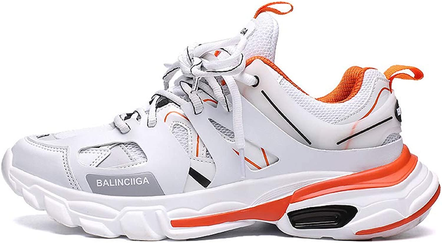 FFSH Sneakers Hiking Outdoor Sports shoes Travel Slip wear-Resistant Breathable Running Walking shoes-White-44
