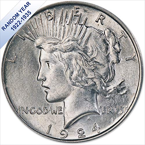 (1922-1935) Peace Silver Dollar (AU) – (with Air-Tite Holder) $1 About Uncirculated