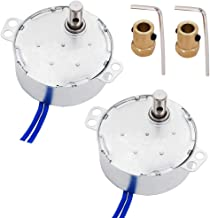 Twidec/2Pcs 7mm Connector Synchronous Motor AC100~127V 50/60HZ Turntable Synchron Motor 4W CW/CCW Electric Motor 5-6RPM/MIN+2Pcs Hexagon Shaft motor flexible coupling coupler+ Allen WrenchTYC-50-502P