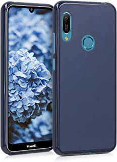 kwmobile Crystal Case for Huawei Y6 (2019) - Soft Flexible TPU Silicone Protective Cover - Transparent Blue 48122.53